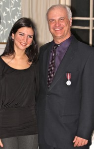 Mark Terry at the Queen's Medal Ceremony with his daughter Mary Anne Terry