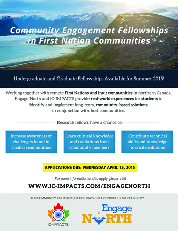 IC-IMPACTS Engage North fellowships poster