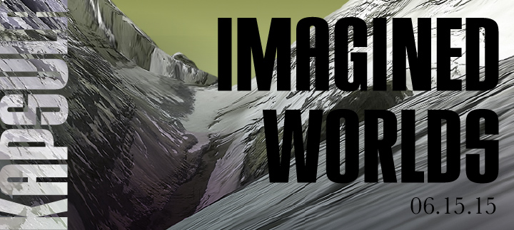 Imagined Worlds promotional graphic