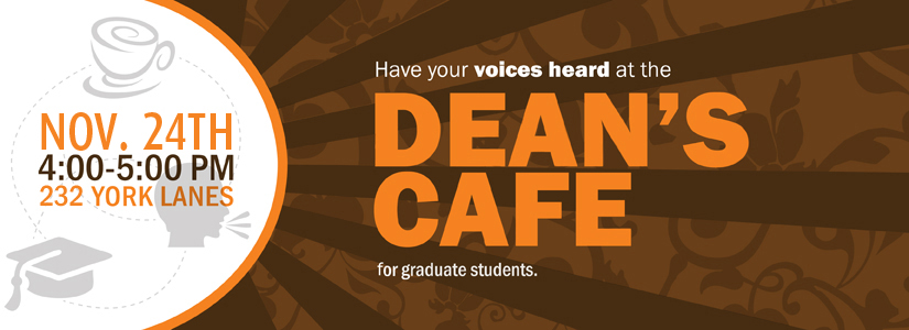 promotional image for the Dean's Cafe, November 2015