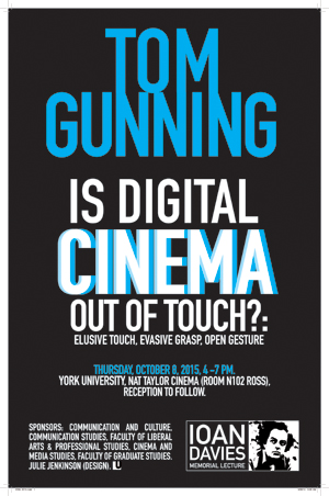 Is Digital Cinema Out of Touch?: Elusive Touch, Evasive Grasp, Open Gesture @ Nat Taylor Cinema N102 Ross