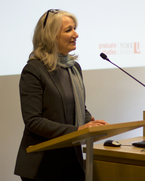 Faculty of Graduate Studies Dean Barbara Crow was one of the hosts of the event