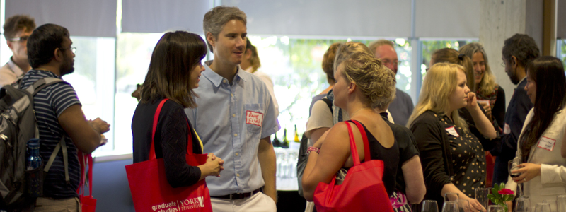 photo of postdoctoral fellows at the orientation and welcome reception