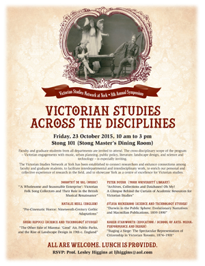 Victorian Studies Across the Disciplines @ Stong 101 (Master's Dining Room)