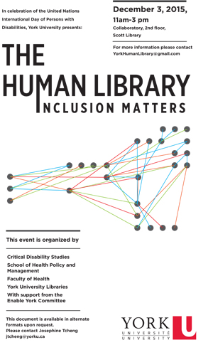 image of the poster for the Human Library event