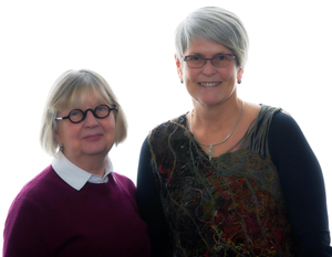 photo of Nadine Cross and Gail Mitchell