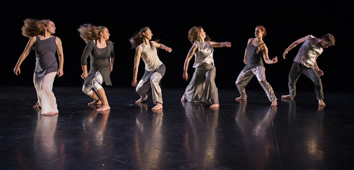 photo of the York Dance Ensemble performing Michelle Silagy's Snowlight. Photo by Craig Chambers.