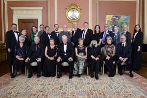 group photo of award winners, nominators and Governor-General David Johnston