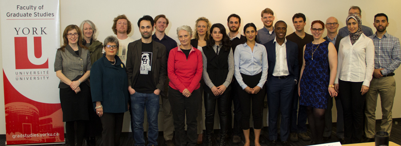 photo of 3MT contestants, judges and FGS deans
