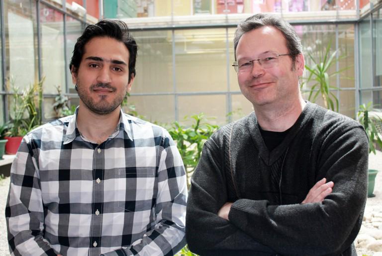 photo of Biology PhD candidate Amirsaman Sajad with Professor Doug Crawford