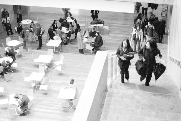 photo of students in schulich atrium