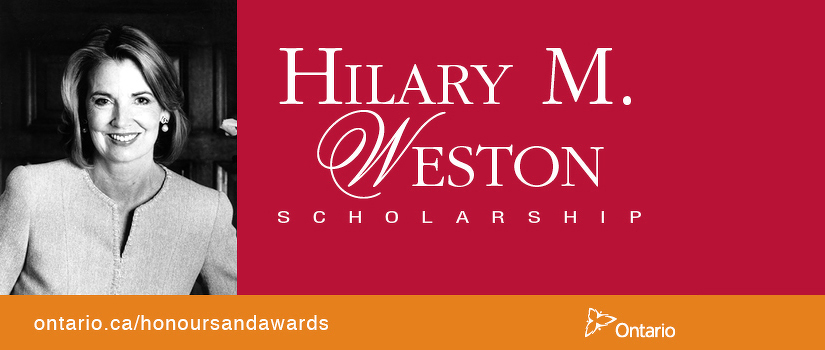 promotional photo for Hilary Weston Scholarship