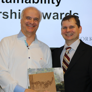 photo of Mark Terry (left) with Martin Bunch