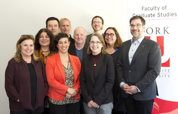 photo of five thesis and dissertation winners and their supervisors