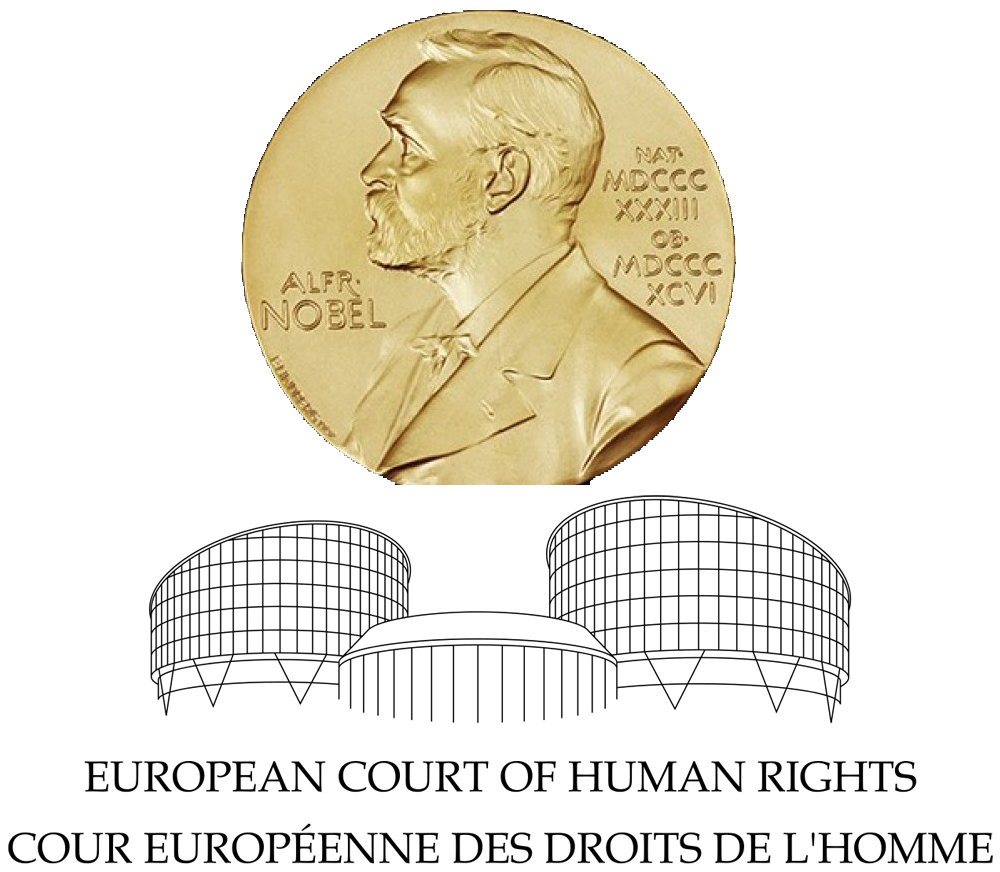 composite image showing the Nobel prize and the European Court of Human Rights logo
