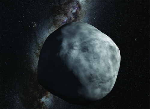 artist's conception of the asteroid Bennu