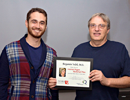 photo of Benjamin Voloh and Dr. Laurence Harris