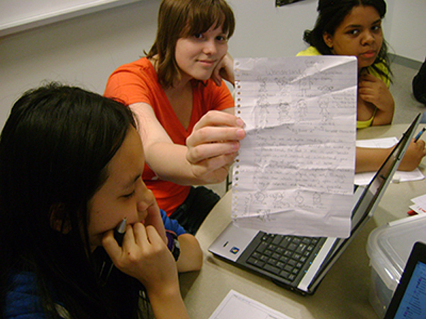 photo of a couple of young women who participated in the study