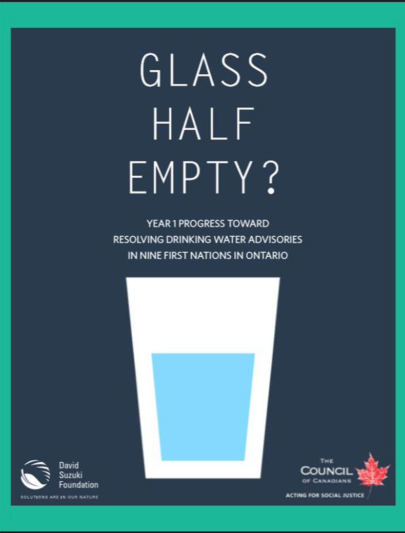 image of the cover of the report on First Nations drinking water in Ontario