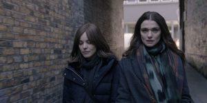 An image from Disobedience featuring York University alumna Rachel McAdams and Rachel Weisz