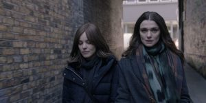 An image from Disobedience featuring York University alumna Rachel McAdams and Rachel Weisz