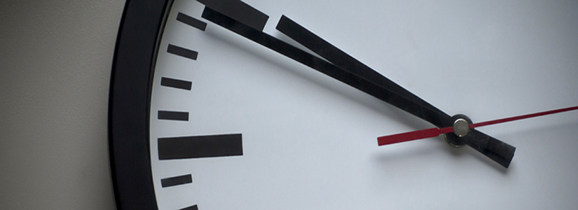cropped photo of a clock face