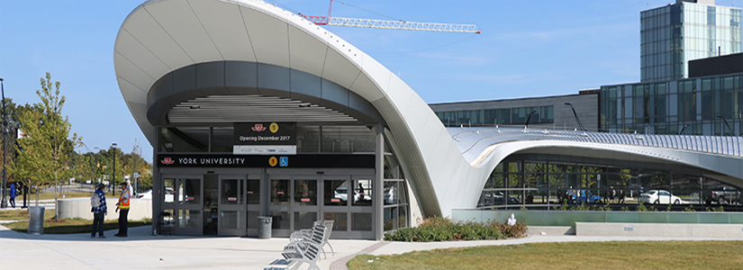 photo of the entrance to the new subway station at York University