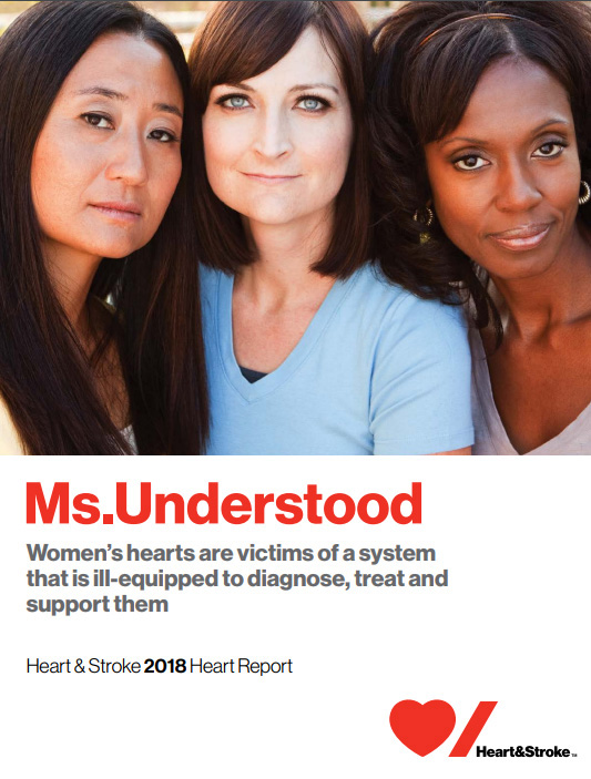 photo of the cover of the 2018 Heart and Stroke report cover