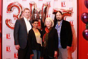photo of the four 3MT judges