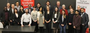 photo of all the York 3MT competitors and the judges