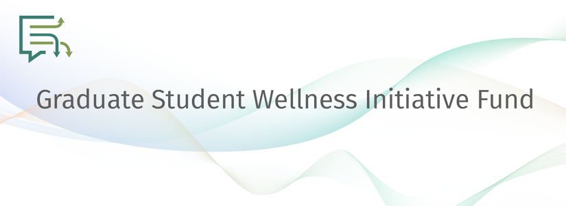 stylized banner for the wellness initiative fund with the gradconnect logo
