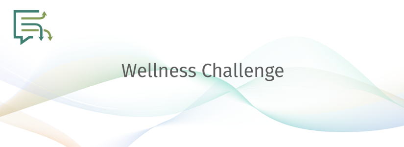 stylized banner for the wellness challenge with the gradconnect logo