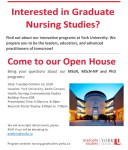 Graduate Nursing Open House @ HNES 038