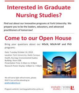 Graduate Nursing Open House @ HNES 038