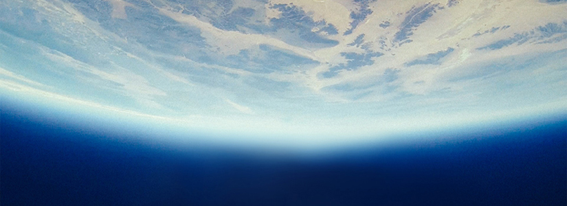 photo showing the curvature of earth from space