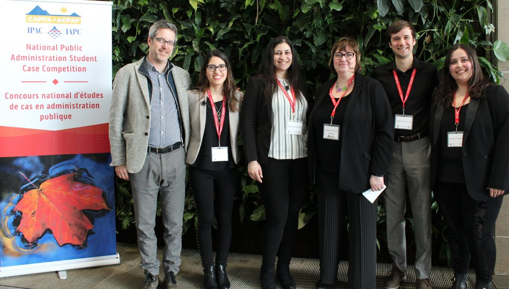 Photo of Professor Francis Garon, Monica Smith, Mona Awad, Andrea Rounce, Kyler Woodmasa and Andrea Garland