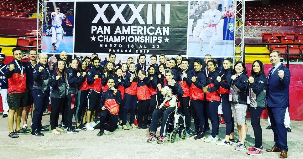 photo of Team Canada at the Senior Pan American Championship in Panama