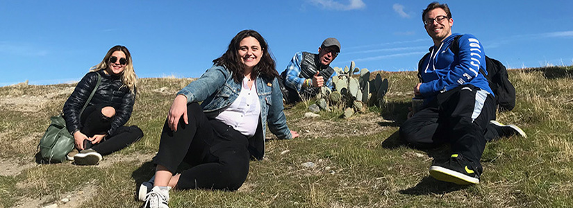 photo of Nargol Ghazian, Malory Owen, Professor Christopher Lortie and Mario Zuliani