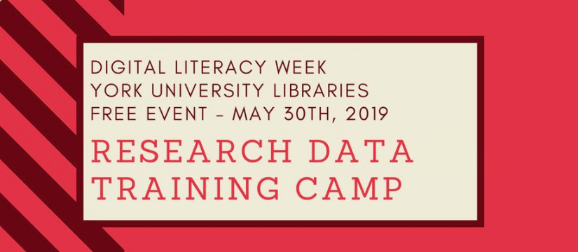 Research Data Training Camp promotional graphic