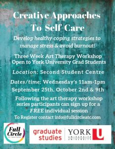 Creative Approaches to Self-Care @ Second Student Centre Meeting Room H3 (Rm. 302)