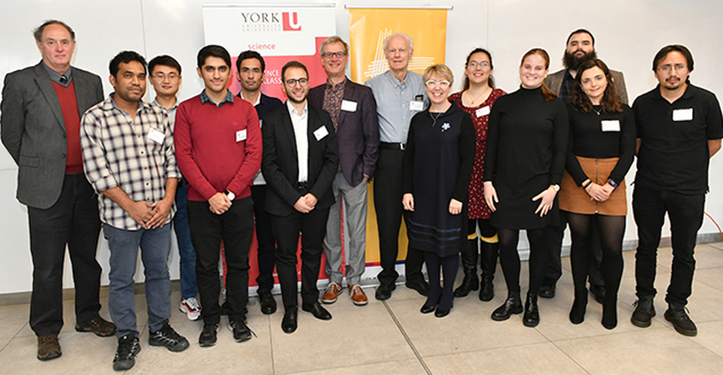 group photo with Carswell Scholars, Allan Carswell and Science and Lassonde Deans