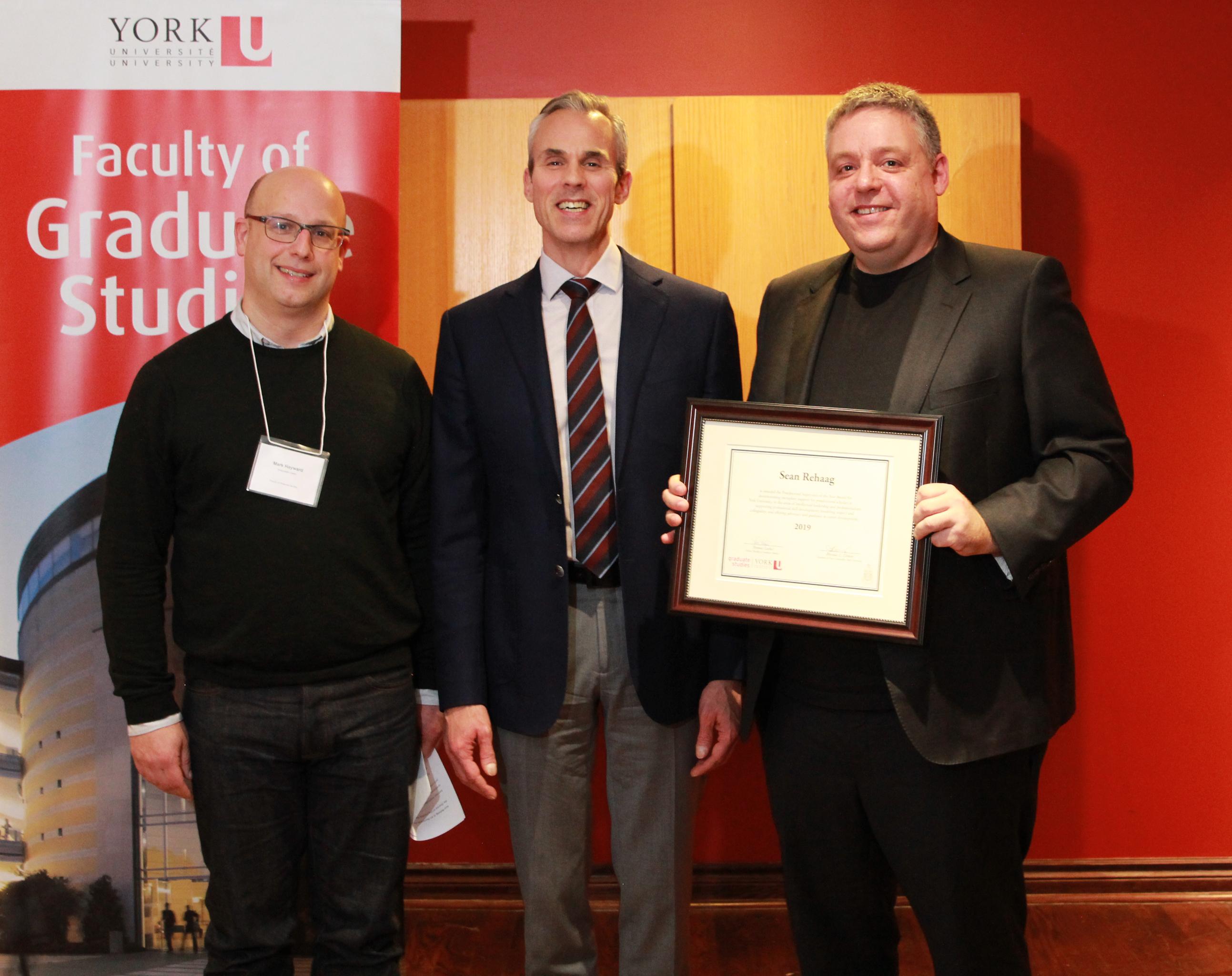 photo of Mark Hayward, Dean Thomas Loebel and Sean Rehaag