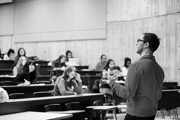 image of a professor giving a lecture