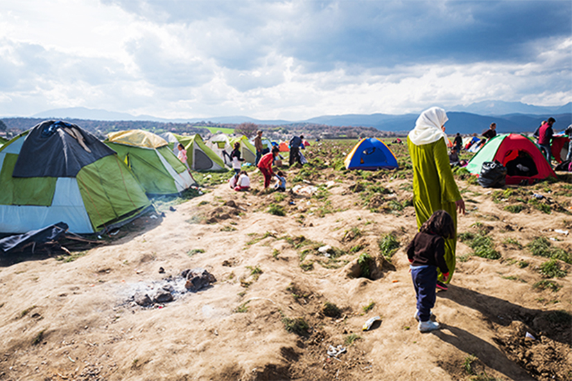 photo of a refugee camp