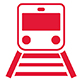 icon of a transit train on rails