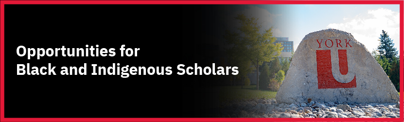 Banner for Page on Postdocs for Black and Indigenous Scholars